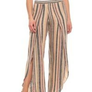 Anthropologie Striped Wide Leg Pull On Pants M